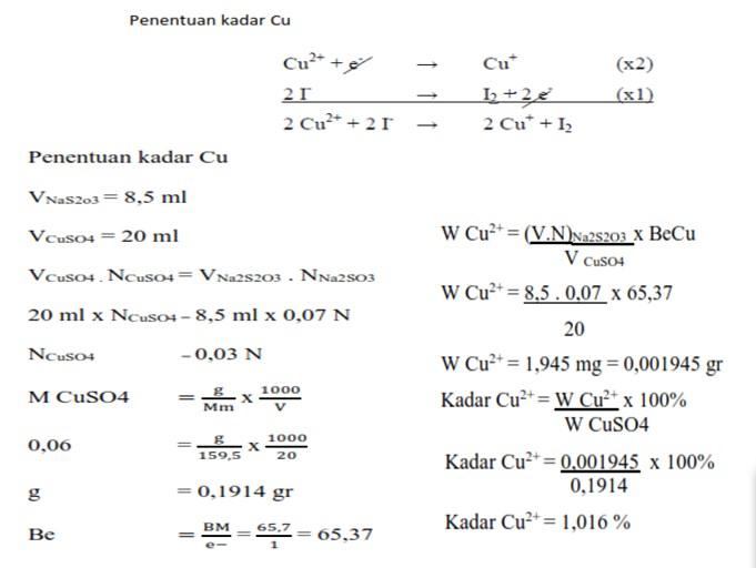 Soal dan Pembahasan Oksidimetri (Kimia Analisis)