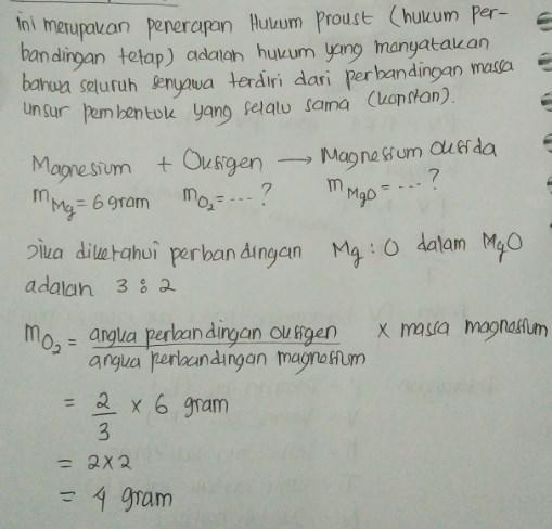soal hukum dasar kimia no 7 dan jawaban