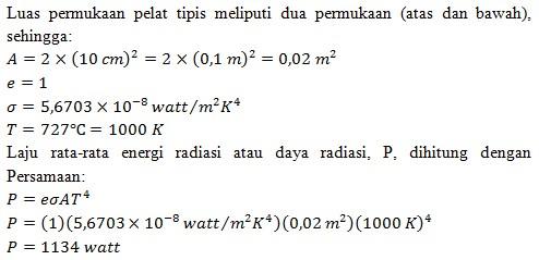 Soal radiasi benda hitam no 11