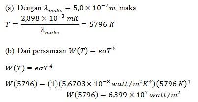 Soal radiasi benda hitam no 9-2