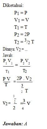 soal teori kinetika gas no 2