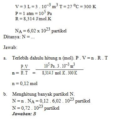 soal teori kinetika gas no 3