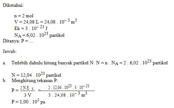 soal teori kinetika gas no 5