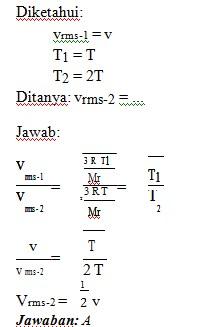 soal teori kinetika gas no 7