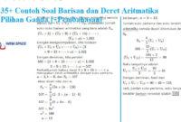 Soal barisan dan deret arimatika