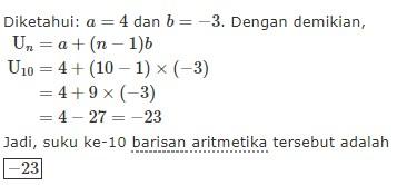 32 Contoh Soal Deret Aritmatika Beserta Jawabannya Kumpulan Contoh Soal