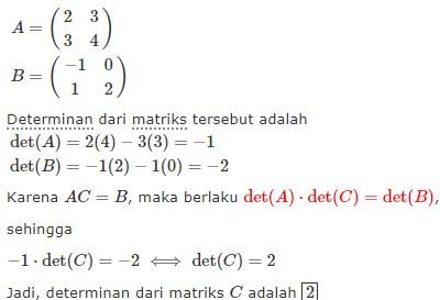 29 Contoh Soal Jawaban Matriks Kumpulan Contoh Soal