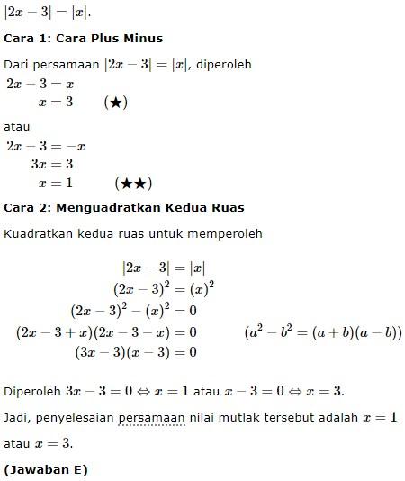 persamaan nilai mutlak no 6