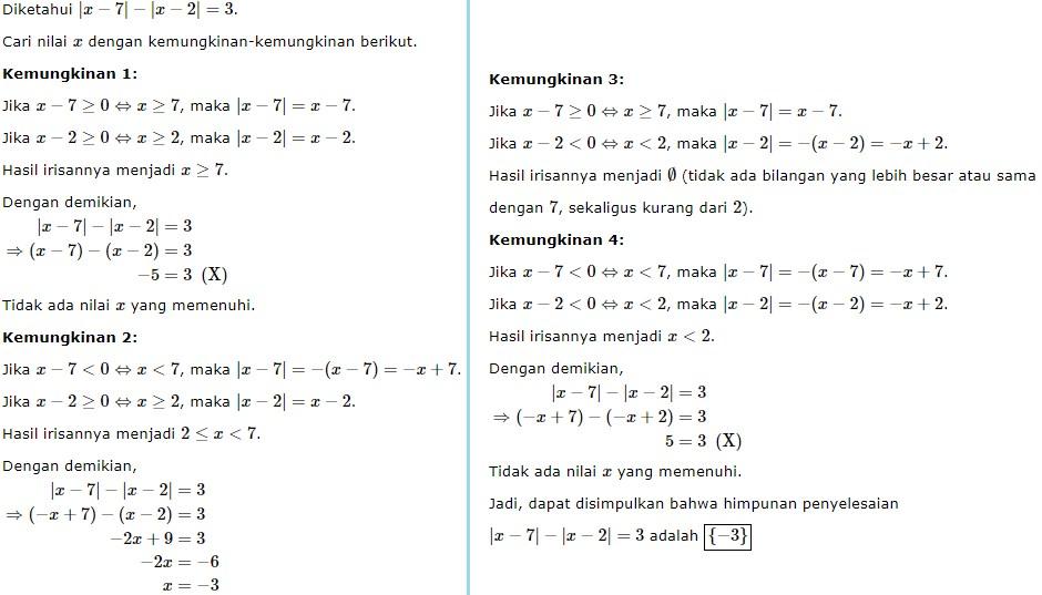persamaan nilai mutlak no 8