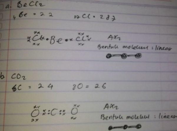soal bentuk molekul no 1