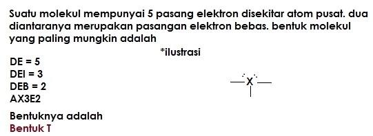 soal bentuk molekul no 11