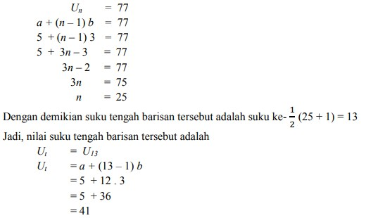 soal deret aritmatika no 3