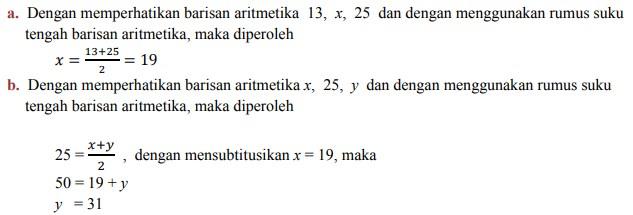 soal deret aritmatika no 4