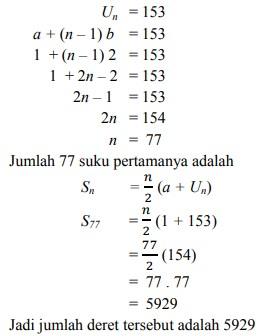 soal deret aritmatika no 6