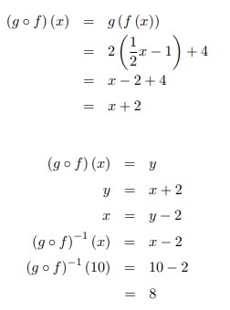 soal fungsi komposisi invers relasi no 14