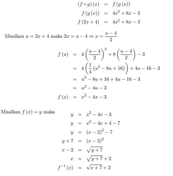 soal fungsi komposisi invers relasi no 18
