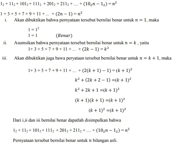 soal induksi matematika no 2-1