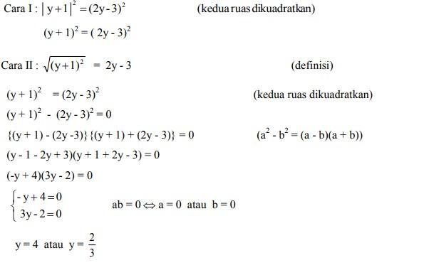 soal persamaan nilai mutlak no 6