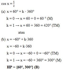 soal persamaan trigonometri dan jawaban no 2