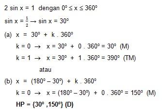 soal persamaan trigonometri dan jawaban no 4-1