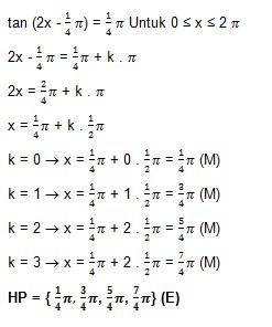 soal persamaan trigonometri dan jawaban no 6