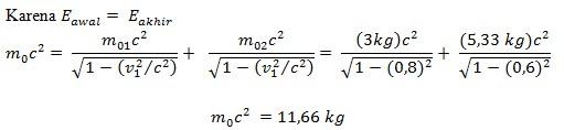 soal teori relativistik no 3