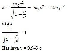 soal teori relativistik no 7
