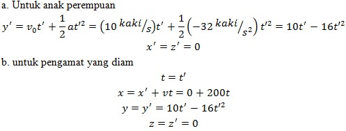 soal transformasi galileo no 3