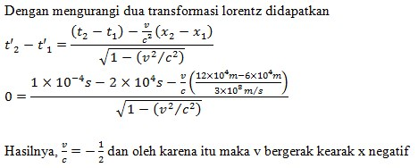 soal transformasi galileo no 6