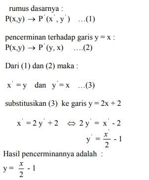 soal transformasi geometri dan jawaban no 1