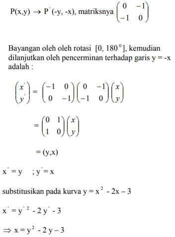 soal transformasi geometri dan jawaban no 2-1