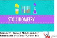 Stoikiometri - Konsep Mol, Massa, Molaritas dan Molalitas + Contoh Soal