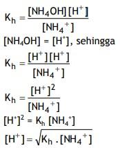 rumus hidrolisis 1