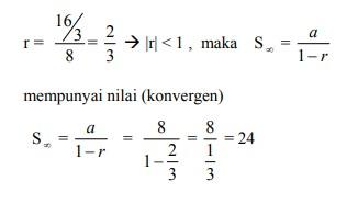 soal deret geometri no 7