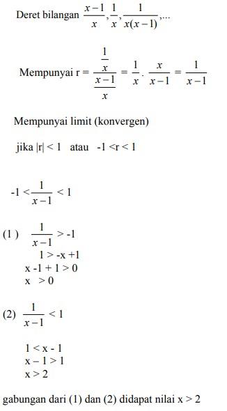 soal deret geometri no 8-1