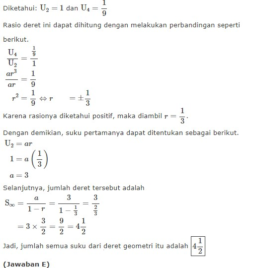 17 Contoh Soal Deret Geometri Tak Terhingga Beserta Jawaban Kumpulan Contoh Soal