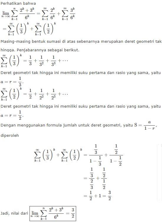 23 Contoh Soal Deret Geometri Tak Terhingga Kumpulan Contoh Soal