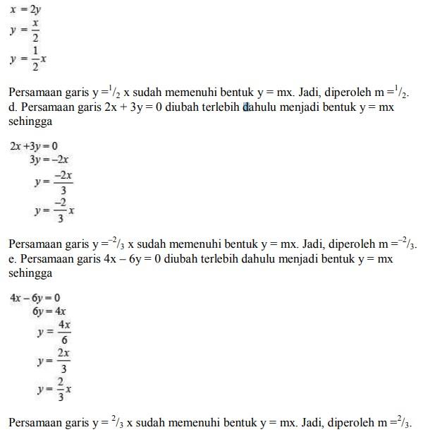 soal persamaan garis lurus no 5