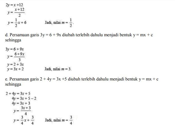 soal persamaan garis lurus no 6