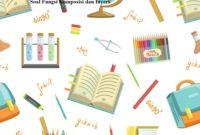 Soal Fungsi Komposisi dan Invers