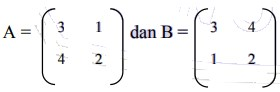 contoh soal matriks no 20