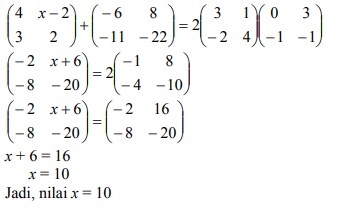 jawaban soal matriks no-28