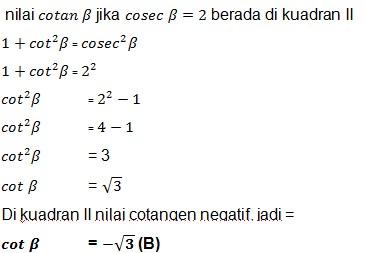 jawaban soal trigonometri 16
