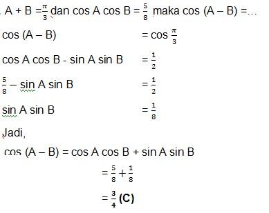jawaban soal trigonometri 17