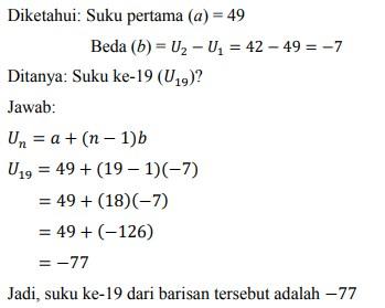 soal deret aritmatika no-22