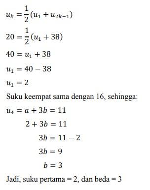 soal deret aritmatika no-25
