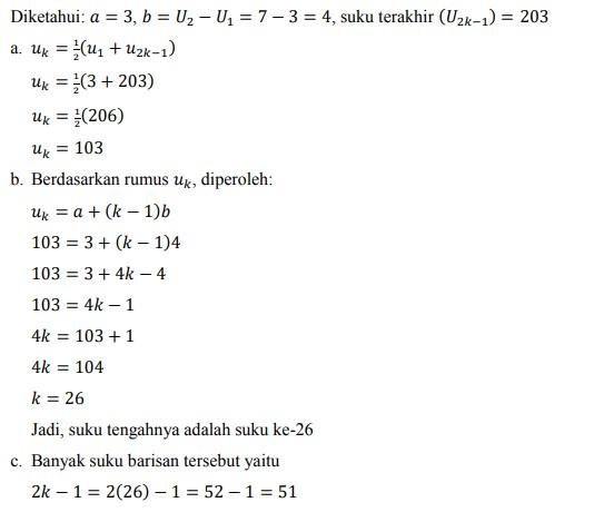 soal deret aritmatika no-31