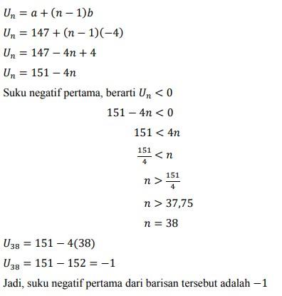 soal deret aritmatika no-35