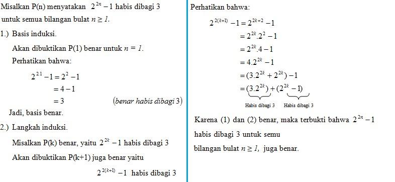 soal induksi matematika no 14
