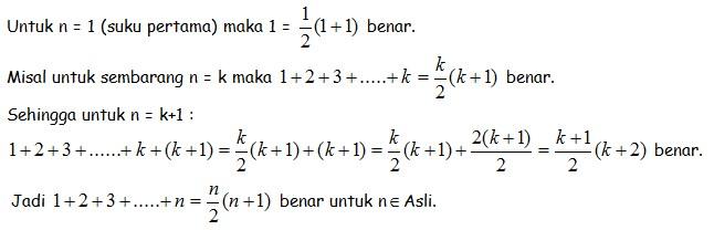 soal induksi matematika no 9